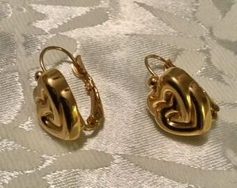 Double Hearts Pierced Earrings