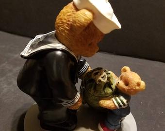 "Teddies in the Navy  ""A Little Last-minute Help"" #0316"