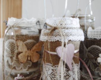 Lanterns country chic lace (5 pieces)