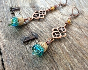 "Earrings ""Chalice of fairies"" Bohemian and whimsical"