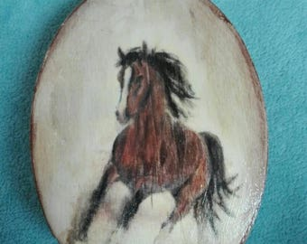 """Painted wooden storage box """"Horse"""""""