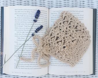 cotton lace crochet bonnet