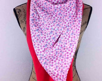 Scarf square pink and purple 140x140cm Alexandra