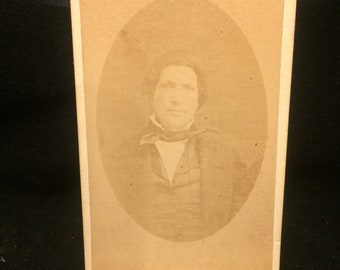 Interesting early 1850s sepia tone photograph of gentlemen