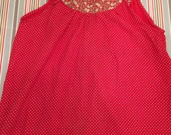 Girl 6 red polka dot dress