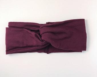 Burgundy headband/ turban