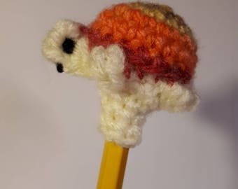 Crochet turtle on pencil-crochet turtle on pencil Amigurumi