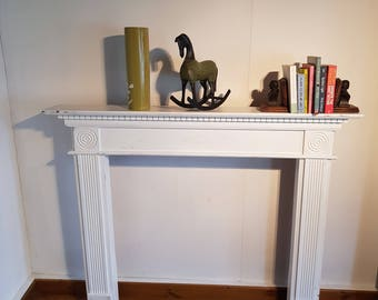 Edwardian style wooden fire surround