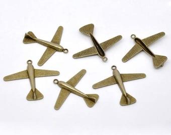 Pendant shape glider (x 1) bronze metal