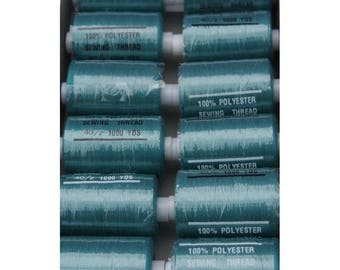 Green polyester thread dark 271 1000 yards
