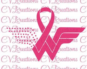 Wonder Woman, Breast Cancer, Survivor, SVG PNG DXF
