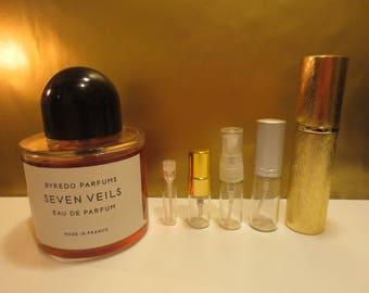 Byredo - Seven Veils 1-10ml travel samples, niche perfume