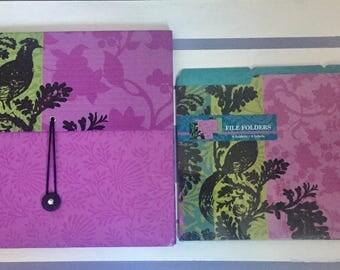 Purple Organizer with Matching Folders (6)