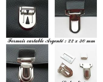 Buckle clasp satchel / pouch / wallet Silver: 22 x 30 mm