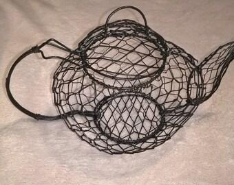 Wire Mesh Teapot