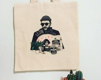 Leon The Professional Cotton Handmade Tote Bag (Jean Reno & Natalie Portman). Eco friendly vegan gift, shopping bag, canvas tote