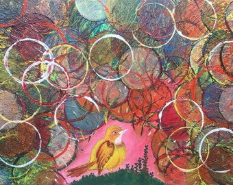 Deep in my heart; original textured acrylic painting