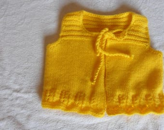 jacket, bolero, yellow 6 months yellow baby sandals
