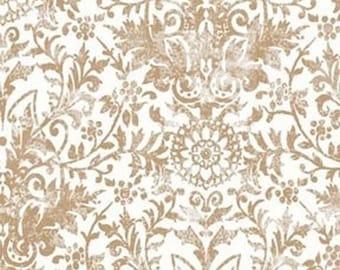 Damask par50 sold Tan fabric * 55cm