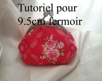 tutorial for worn round clasp wallet 9.5 cm and 8.5 cm, explanatory and step by step