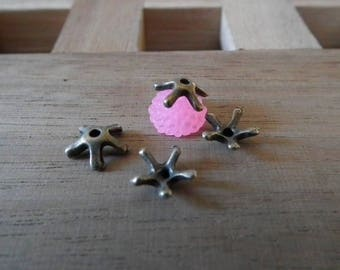 Bronze 7mm♥ X 25 PCs antique Cup star ♥