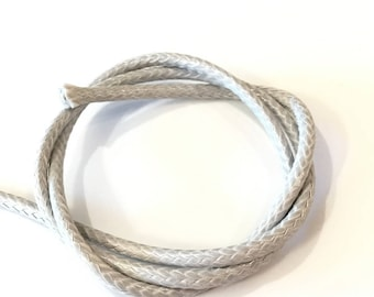 X 1 METER CORD 4MM POLYESTER WAX SNAKE GRIS❤ ❤