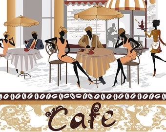 SEMI-rigid PLACEMAT, ORIGINAL, plastic, WASHABLE and durable - 11b Paris Cafes.
