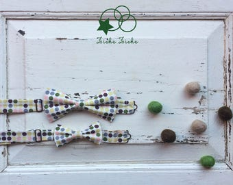 Dot bow tie, man bow tie, boy bow tie, father and son bow tie, grey bow tie, yellow bow tie, green bow tie