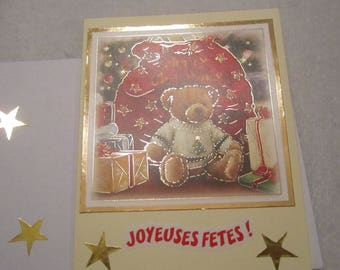 Greeting card to wish a happy Christmas