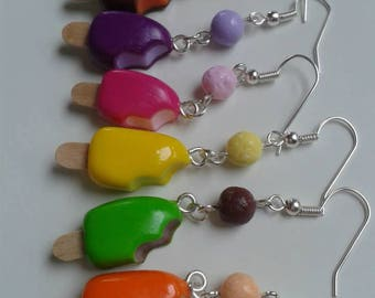 Earrings magnums Fimo, different scents to choose.