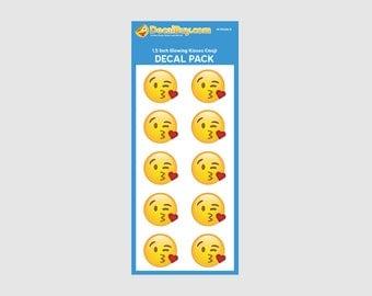 Blowing Kisses Emoji Decal Mini Pack
