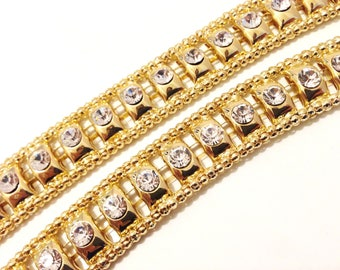 Diamante - Diamond Ladies Belt Waist Chain - With Charm 511 - Gold
