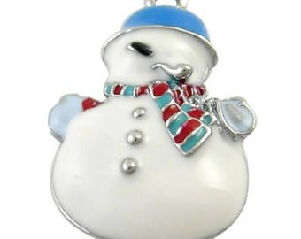 5 pieces Snowman Zinc Alloy Charm Pendants - A0620