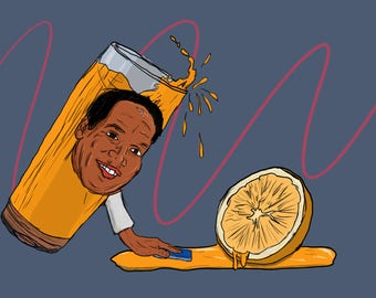8x12 O.J. Cleaning The Crime Print