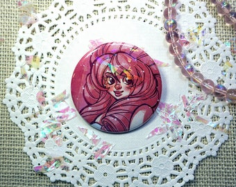 Rose Quartz 2.25 inch Button