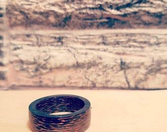 Copper carbon fiber ring size (7 US)