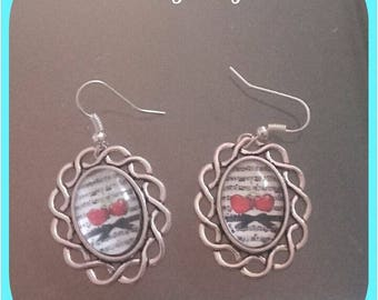 "Silver earrings ""cherry music"""