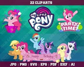 My Little Pony Clipart – Svg,Eps,Png,Jpg – Pony Invitation – Pony Birthday – Pony Decoration – My Little Pony Vector – My Little Pony SVG