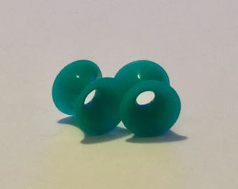 Teal Silicone Plugs