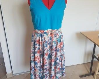 Dress Mior model 2017 Blue Lily