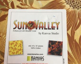 "Sun Valley 10"" x 10"" (enhanced with Metallic Gold)"