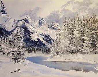 Original Painting 18x24 Winter Landscape