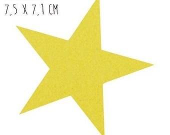 Star pattern fusible thin 7.5 x 7.1 cm yellow Velvet