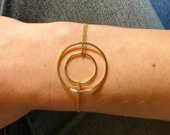 Plated gold refined Waves collection bracelet