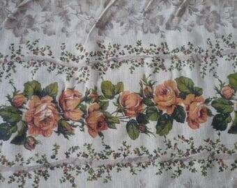 Vintage fabric cotton beige/Orange 60 * 50 cm - 2 units
