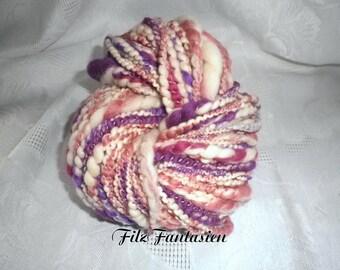 Artyarn hand spun, effect yarn 135 g, spiral yarn, handspun Merino Wool, wool, Knitting yarn