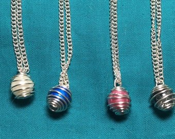 Wire Wrapped Bead Necklace