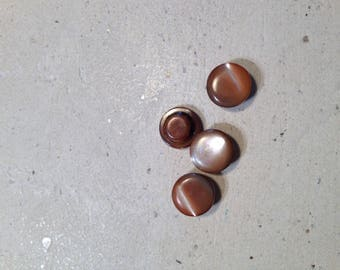 Brown vintage buttons set