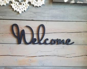 Welcome Sign Wedding Wood Cutout