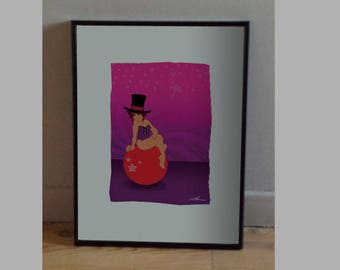 A4 print - Girl and magic